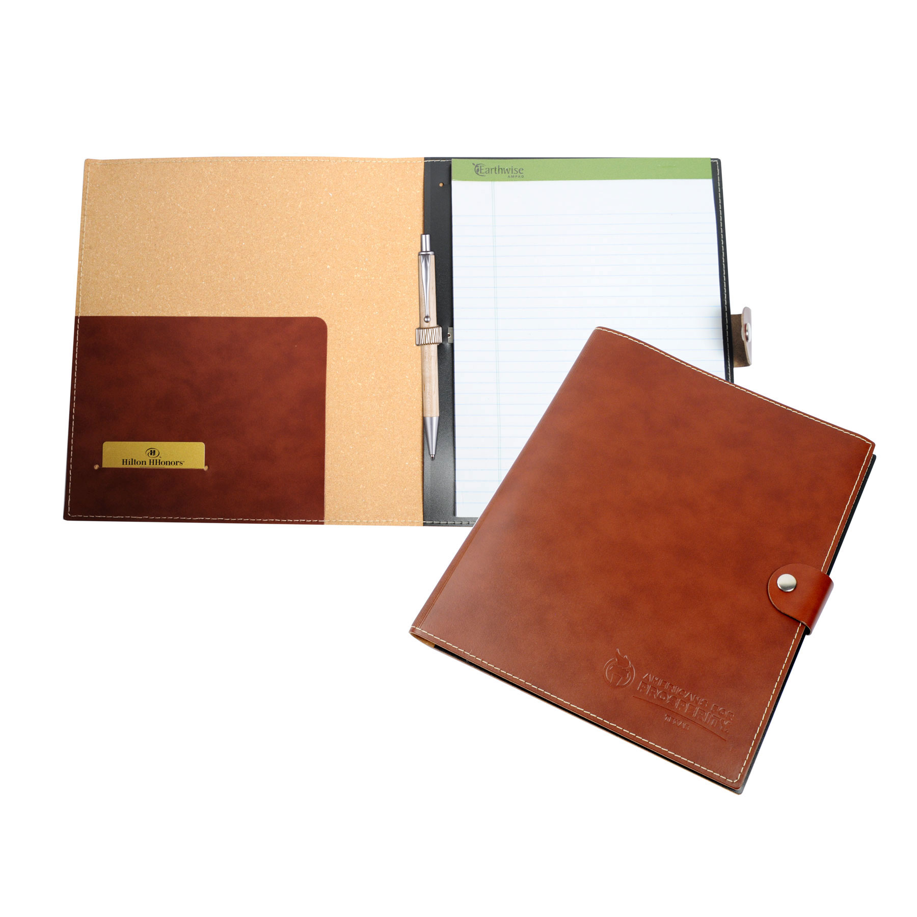 """Leather Pad Holder w/ 8.5""""x11"""" Lined Pad"""