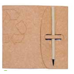 """Recycled Leather Jotter w/ 70 Blank Sheets (5""""x7"""")"""