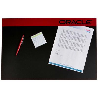 """Leather Executive Desk Blotter w/ Saddle Stitching - 15""""x23"""""""