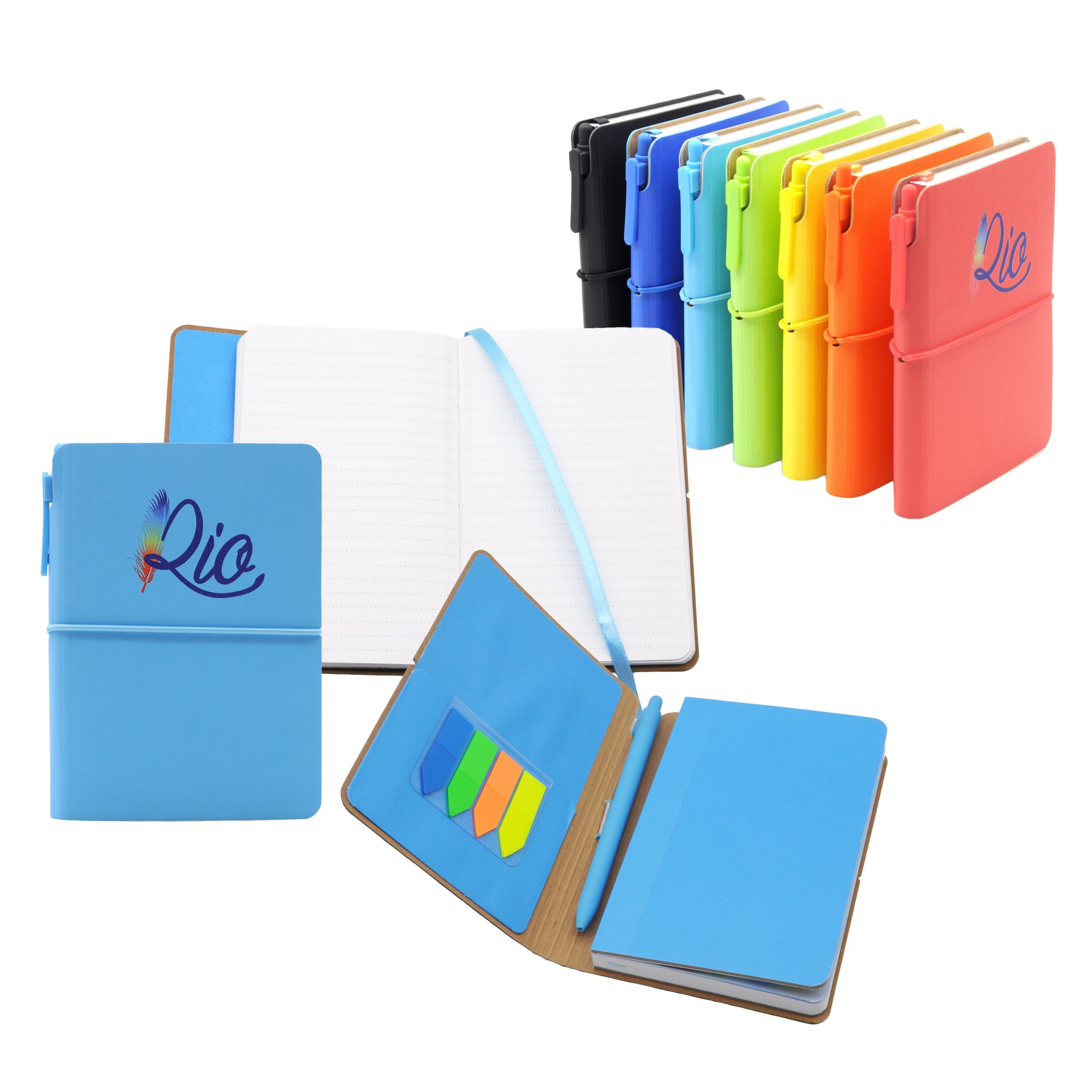 RIO Journal - Soft touch and colorful bookbound journal set
