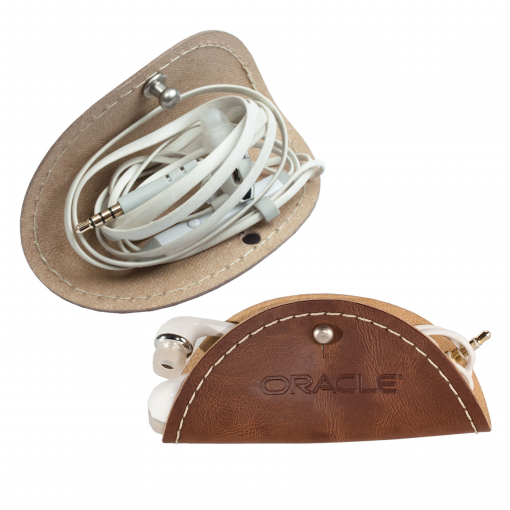 """Taco like"" Leather Cord Holder"