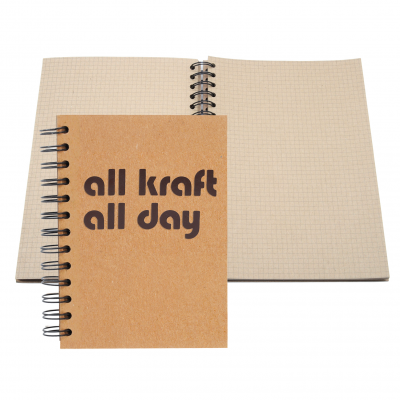 "5"" x 7"" ALL KRAFT Recycled Spiral Journal"