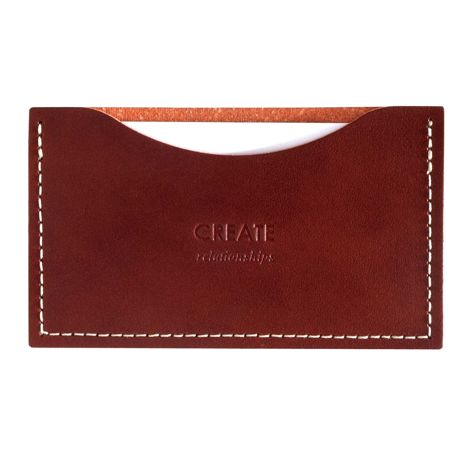 Brief Leather Business Card Holder