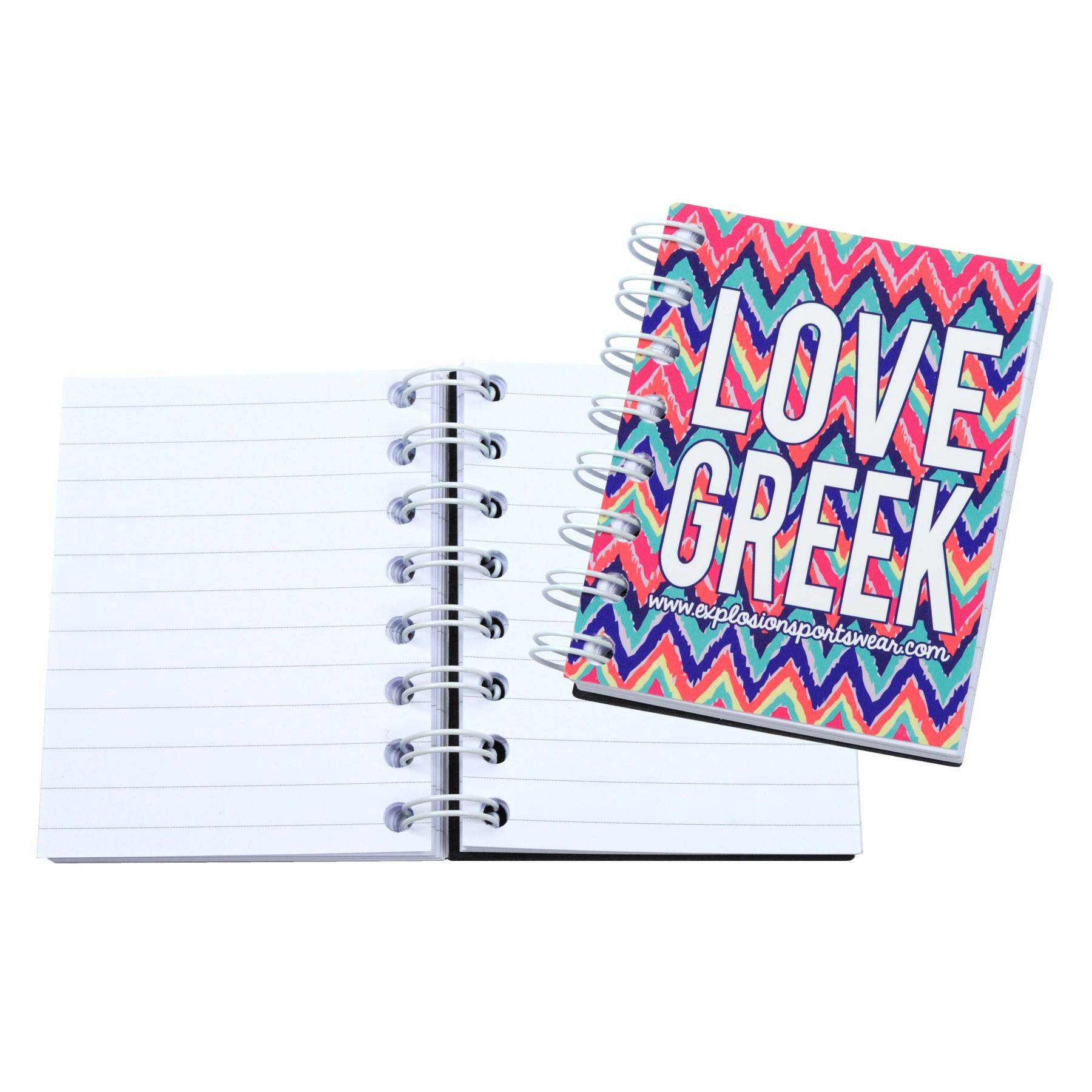 3 x 4 4 color process value spiral notebook journal branded