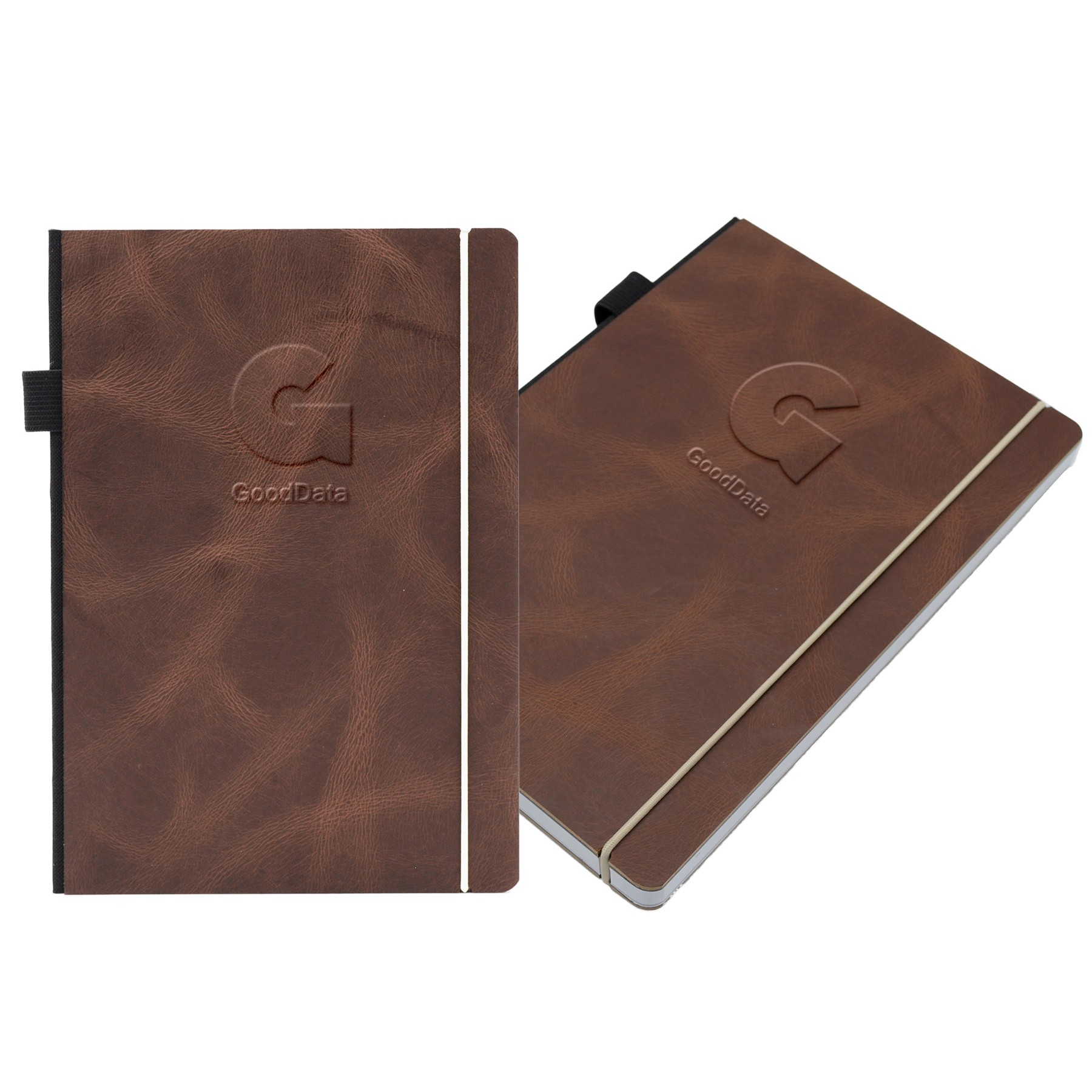 Contempo Bookbound Leather Cover Journal with Matching Color Elastic Closure