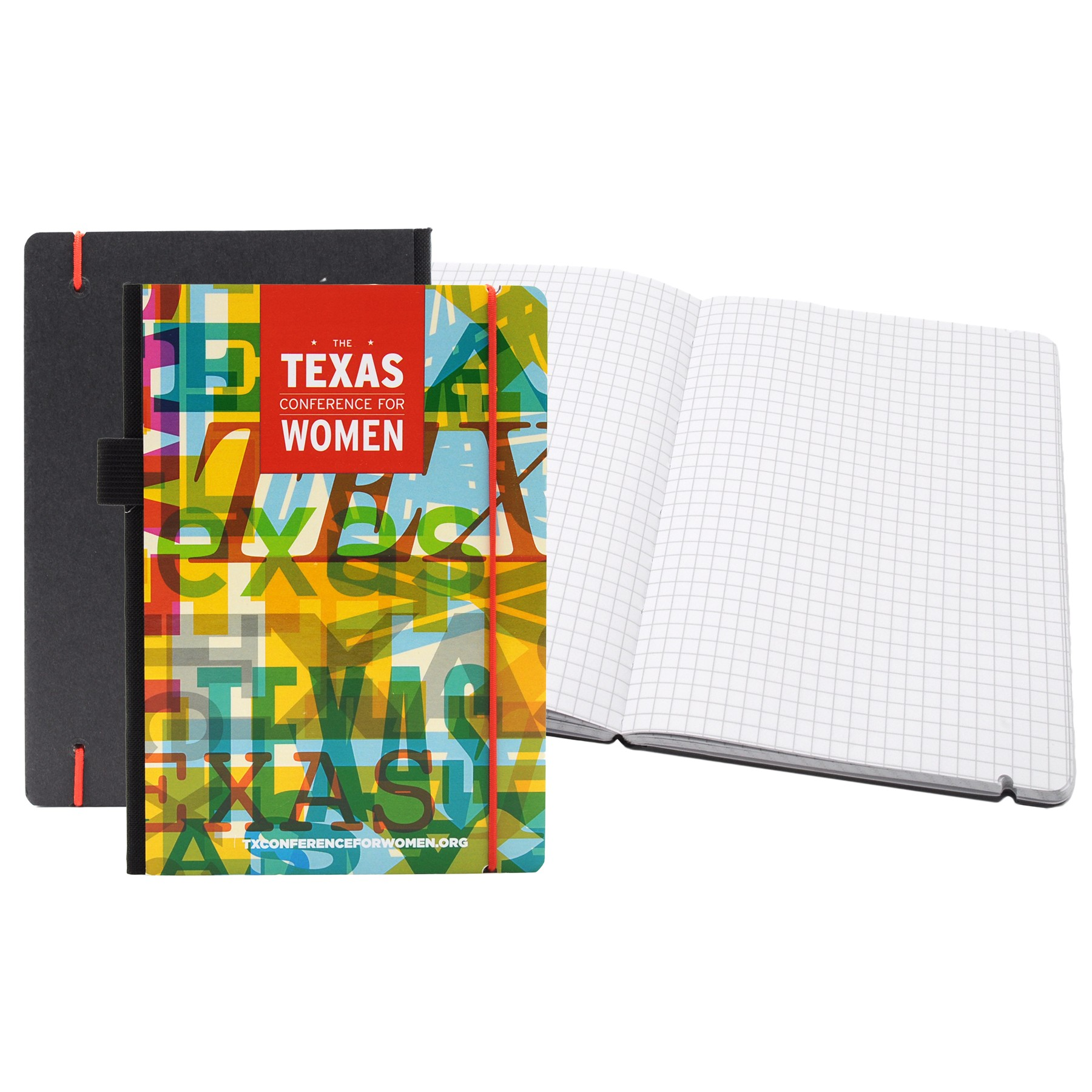 "Full Color Contempo Bookbound Journal 5"" x 7"" with Matching Color Elastic Closure"