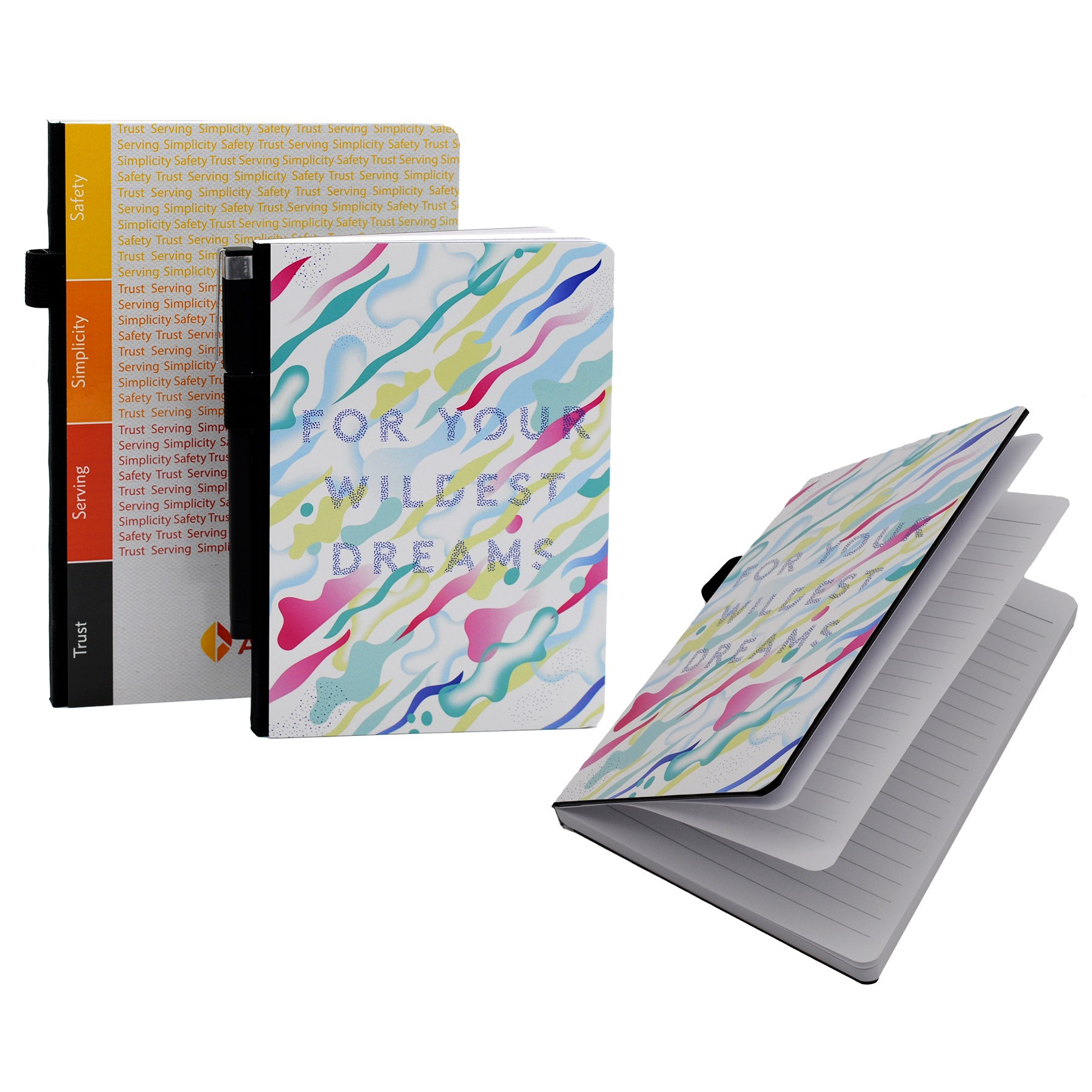 Full Color Contempo Bookbound Journal with Matching Color Elastic Closure