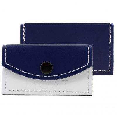 Flap Leather Business Card Holder