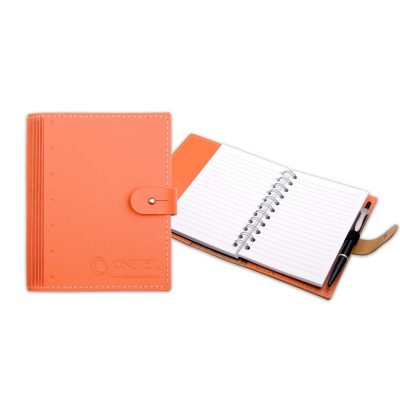 """4"""" x 6"""" Madison Avenue Leather Spiral Slip-in Refillable Journal Notebook"""