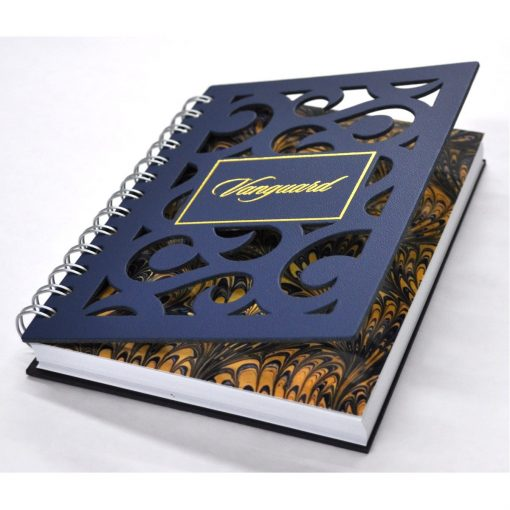 "5"" x 7"" Venetian Curves Leather Spiral Journal Notebook"