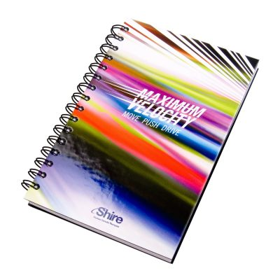 "5.25"" x 8.25"" Full Color Laminated Spiral Journal Notebook"