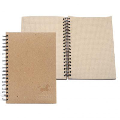 "7"" x 9"" ALL KRAFT Recycled Spiral Journal Notebook"