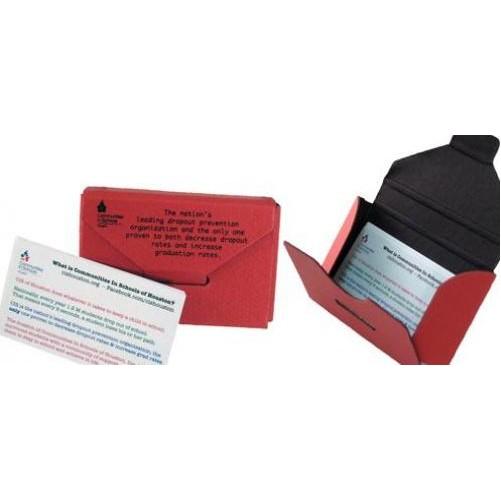 Mini Portfolio Business Card Holder W Tuck Tab 3 50 X2