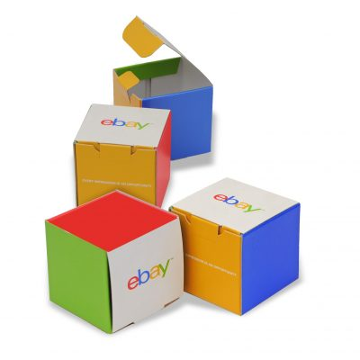 "Small Self Locking Tuck Tab Gift Box Packaging (4""x4""x4"")"
