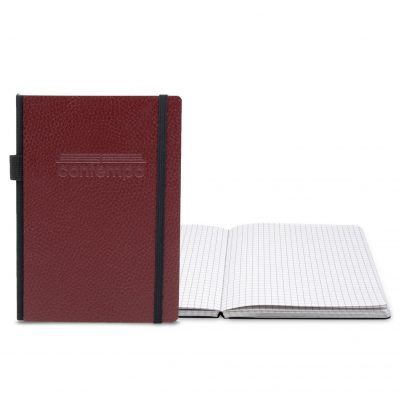 "Contempo Bookbound Leather Cover Journal 5"" x 7"" with Matching Flat Elastic Closure"