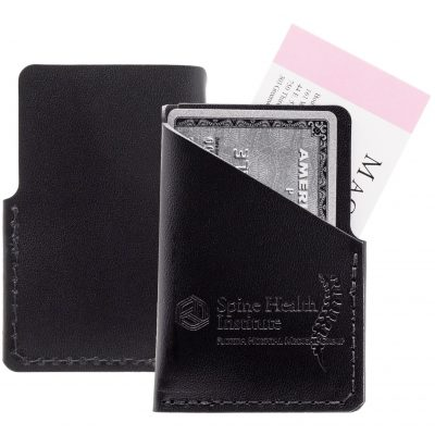 Vertical Leather Business Cards Wallet