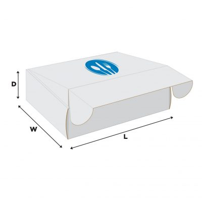"ECONOLUX MAILERS WHITE - Large Size 13""x13""x3"" Roll End Closure"