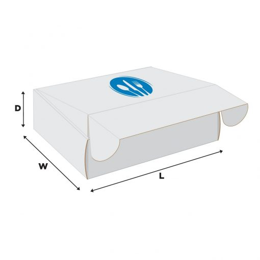"""ECONOLUX MAILERS WHITE - Medium Size 8""""x6""""x2"""" Roll End Closure"""