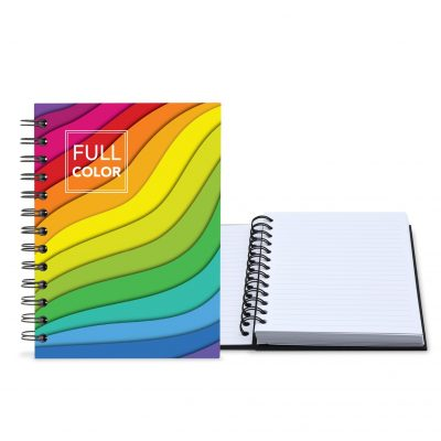 "5"" x 7"" Full color Laminated Spiral Journal Notebook"