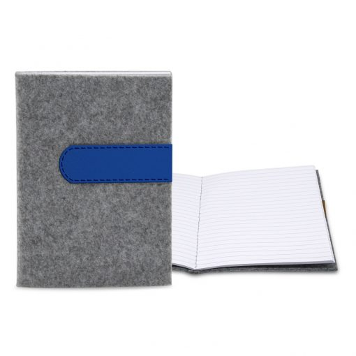 "Feltro Collection Gray Felt Sewn Commuter Journal 5"" x 7"""