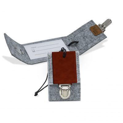 "Feltro Collection Recycled Felt Leather Luggage Tag - 4.25"" x2.75"""