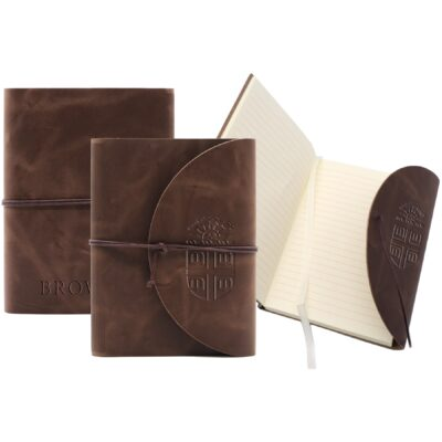 """Leather Perfect Flap Book-Bound Journal - 4.75"""" X 6.75"""""""